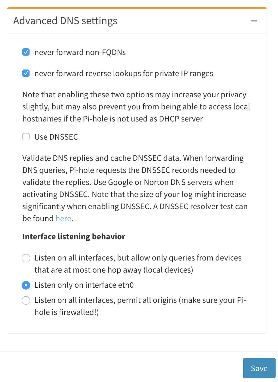 在DSM里面的Docker安装Pi-hole把广告从源头彻底弄没了 NAS 第13张